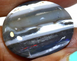 N - 5   16.95 cts   dark opal picture stone lightning ridge TBO-A3246