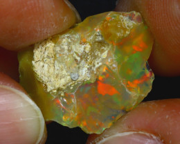 13.32Ct Multi Color Play Ethiopian Welo Opal Rough JF2227/R2