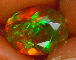 Welo Opal 1.30Ct Natural Ethiopian Play of Color Opal HF2317/A44