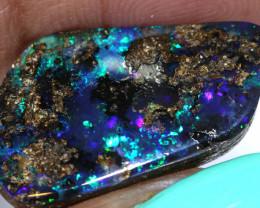 10.45 cts boulder opal polished cut stone  TBO-A3261