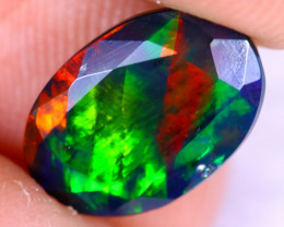 1.71cts Natural Ethiopian Welo Faceted Smoked Opal / NY2232