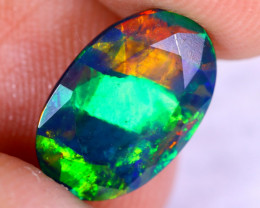 1.77cts Natural Ethiopian Welo Faceted Smoked Opal / NY2249