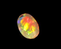 1.35 Crt Natural Ethiopian Welo Fire Faceted Opal 483