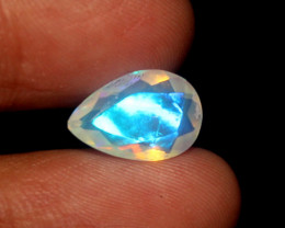 1.80 Crt Natural Ethiopian Welo Fire Faceted Opal 471