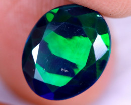 2.44cts Natural Ethiopian Welo Faceted Smoked Opal / NY2254