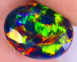 1.50cts Natural Ethiopian Welo Faceted Smoked Opal / NY2184