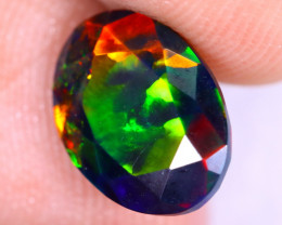 1.69cts Natural Ethiopian Welo Faceted Smoked Opal / NY2196