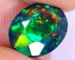 2.05cts Natural Ethiopian Welo Faceted Smoked Opal / NY2198