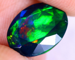 2.06cts Natural Ethiopian Welo Faceted Smoked Opal / NY2206