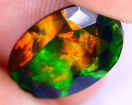 1.93cts Natural Ethiopian Welo Faceted Smoked Opal / NY2210