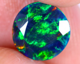 1.08cts Natural Ethiopian Welo Faceted Smoked Opal / NY2212
