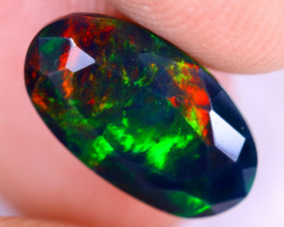 2.05cts Natural Ethiopian Welo Faceted Smoked Opal / NY2216
