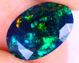 1.65cts Natural Ethiopian Welo Faceted Smoked Opal / NY2226
