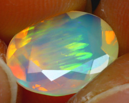 Welo Opal 1.93Ct Natural Ethiopian Play of Color Opal HF2517/A44