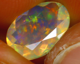 Welo Opal 1.67Ct Natural Ethiopian Play of Color Opal HF2520/A44