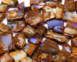 Boulder Pipe Opal Rough Parcel   DO-1840