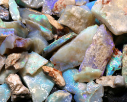 142cts lightning ridge  opal rough parcel  ado-8702