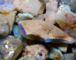 158cts lightning ridge  opal rough parcel  ado-8703