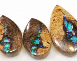 24.00 CTS SOLID BOULDER OPAL PIPE3 PC SET  RO-1146