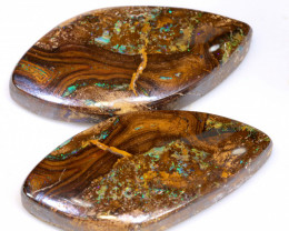 94.10 CTS SOLID BOULDER OPAL PIPE PAIR RO-1147