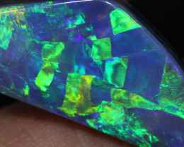 10.71 CTS HARLEQUIN  BLACK OPAL STONE-FROM LIGHTNING RIDGE - [LRO2218]