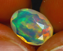 Welo Opal 1.53Ct Natural Ethiopian Play of Color Opal JF2618/A44