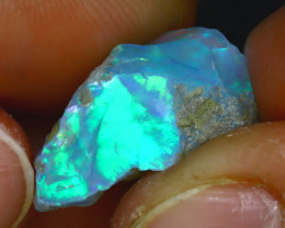 9.30Ct Multi Color Play Ethiopian Welo Opal Rough JF2621/R2