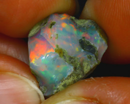 8.52Ct Multi Color Play Ethiopian Welo Opal Rough JF2628/R2