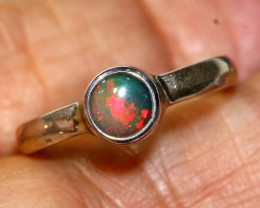 9.35 CTS  DOUBLET OPAL SILVER RING   OF-774