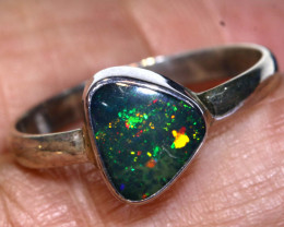 11.3 CTS DOUBLET OPAL SILVER RING    OF-788