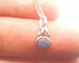 225916 Doublet Opal In Silver Pendant