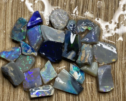 52.20 ct Opal Rough Lot Black Opals Lightning Ridge BORA240321