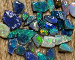 38.30 ct Opal Rough Lot Black Opals Lightning Ridge BORB240321