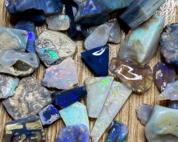 179.20 ct Opal Rough Lot Black Opals Lightning Ridge BORC240321