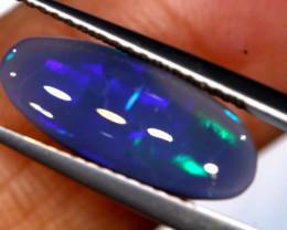 N 3-   2.50  cts   black opal stone lightning ridge TBO-A3354