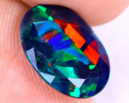 2.26cts Natural Ethiopian Welo Faceted Smoked Opal / NY2342