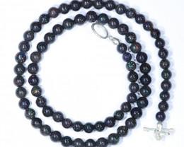 "Sandstone Opal Matrix  (Fairy Opal) 19""  Necklace Code - NO420"