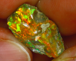 6.90Ct Multi Color Play Ethiopian Welo Opal Rough HF2718/R2