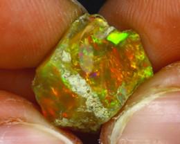 7.56Ct Multi Color Play Ethiopian Welo Opal Rough HF2719/R2