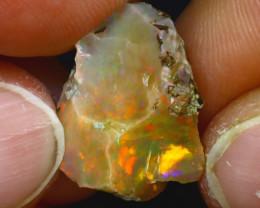 8.90Ct Multi Color Play Ethiopian Welo Opal Rough HF2725/R2