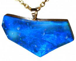 Large Opal Pendant Solid 14k Gold Australian Opal Jewelry 12.5ct