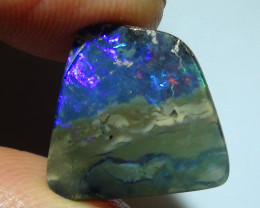 7.75 ct $1 NR Multi Color Natural Boulder Opal Picture Stone