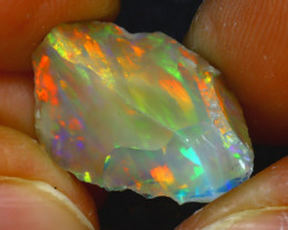 8.10Ct Multi Color Play Ethiopian Welo Opal Rough JF2818/R2