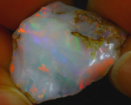 11.33Ct Multi Color Play Ethiopian Welo Opal Rough JF2820/R2