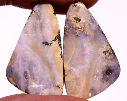 50 CTS QUALITY BOULDER OPAL PAIR EO-784