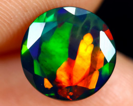 1.77cts Natural Ethiopian Faceted Smoked Welo Opal / BF7032