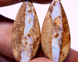 36.9 CTS QUALITY BOULDER OPAL PAIR EO-844