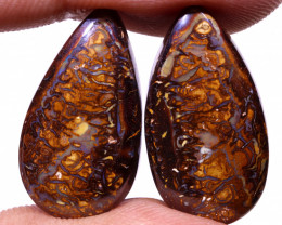 28 CTS QUALITY YOWAH PAIR TOP POLISH EO-862