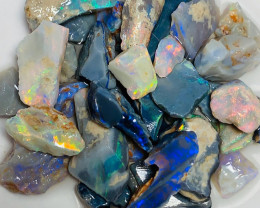 Medium to Small Size Seam Opals with Nice Colours & Some Small Cutter
