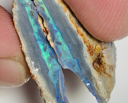Beautiful Seam Split- 28.5 CTs Seam Opal Split With Great Bar#1273